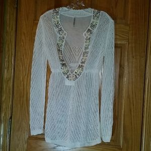 Victoria's Secret embellished swim cover-up